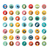 Flat icon designs, icons set, app, food, cartoon. Modern flat icons vector collection with long shadow effect in stylish colors of different elements on game Vector Illustration