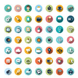 Flat icon designs, icons set. Modern flat icons vector collection with long shadow effect in stylish colors of different elements on game design and development Stock Illustration