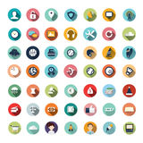 Flat icon designs, icons set. Modern flat icons vector collection with long shadow effect in stylish colors of different elements on game design and development Vector Illustration