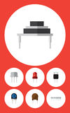 Flat Icon Device Set Of Recipient, Receiver, Transducer And Other Vector Objects. Also Includes Recipient, Destination Royalty Free Stock Images