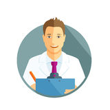 Flat icon of a doctor Royalty Free Stock Photography