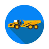 Flat icon dump truck. In vector format eps10 Stock Images