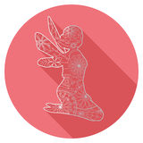 Flat icon of fairy Royalty Free Stock Images