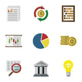Flat Icon Finance Set Of Interchange, Counter, Diagram And Other Vector Objects. Also Includes Coin, Pie, Document. Flat Icon Finance Set Of Interchange, Counter Royalty Free Stock Image