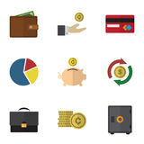 Flat Icon Finance Set Of Payment Royalty Free Stock Photos