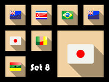 Flat icon of flags Stock Image