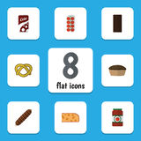 Flat Icon Food Set Of Tart, Tomato, Cookie And Other Vector Objects. Also Includes Apple, Sauce, Tart Elements. Stock Photos