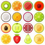 Flat icon fruits stock illustration