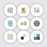 Flat Icon Games Set Of Gomoku, Jigsaw, Multiplayer And Other Vector Objects. Also Includes Bingo, Game, Lotto Elements. Flat Icon Games Set Of Gomoku, Jigsaw Stock Photography
