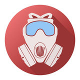 Flat icon of gas mask respirator Royalty Free Stock Image