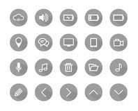 Flat icon grey color, flat icons, icons set, icons vector Stock Photography
