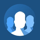 Flat icon of group Royalty Free Stock Images