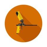 Flat icon gun for foam Stock Photography