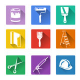 Flat icon, home repair. Vector illustration Royalty Free Stock Photo