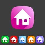 Flat icon home Royalty Free Stock Photos
