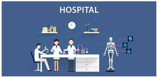 Flat icon hospital Royalty Free Stock Photos