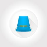 Flat icon for Ice Bucket Challenge. Royalty Free Stock Images