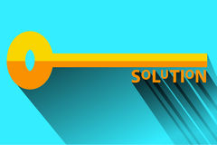 Flat Icon - Illustration For Solution or problem solving Royalty Free Stock Images