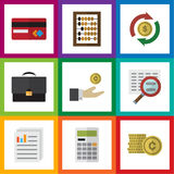 Flat Icon Incoming Set Of Calculate, Interchange Royalty Free Stock Image