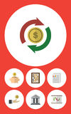 Flat Icon Incoming Set Of Diagram Royalty Free Stock Photo