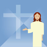 Flat icon Jesus2 Stock Photography
