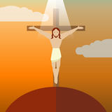 Flat icon Jesus3 Royalty Free Stock Photo