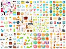 Flat Icon jumbo collection Royalty Free Stock Photo