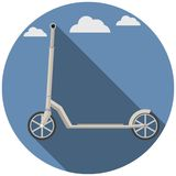 Flat icon for Kick Scooter Stock Images