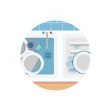 Flat icon for Kitchen sink Royalty Free Stock Photo