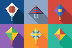Flat icon kite Royalty Free Stock Images