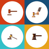 Flat Icon Lawyer Set Of Crime, Court, Government Building And Other Vector Objects. Also Includes Court, Law, Hammer Royalty Free Stock Image