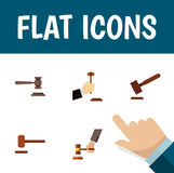 Flat Icon Lawyer Set Of Law, Legal, Crime And Other Vector Objects. Also Includes Tribunal, Court, Justice Elements. Stock Photos