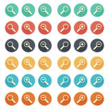 Flat Icon Magnifier Royalty Free Stock Photography