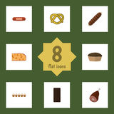 Flat Icon Meal Set Of Cookie Stock Images