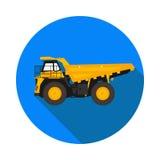 Flat icon mining truck Stock Photo