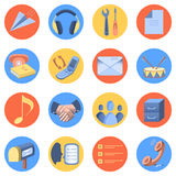Flat icon modern set for mobile interface Stock Photo