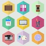 Flat icon office design  illustrator. Flat icon office design   illustrator Royalty Free Stock Photo