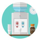 Flat icon for office. Water cooler Stock Photo
