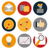 Flat icon ommunication. Icons  in circles Royalty Free Stock Photography