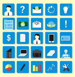 Flat icon pack Royalty Free Stock Photography