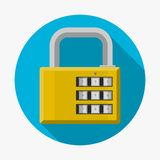 Flat icon for padlock Stock Photography