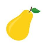 Flat icon pear. Stock Photos