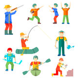 Flat icon people of different professions Royalty Free Stock Photography