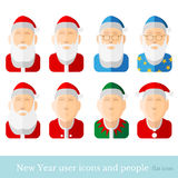 Flat icon people santa gnome Royalty Free Stock Images