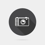 Flat icon photo or camera Stock Images
