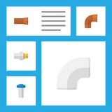 Flat Icon Pipeline Set Of Industry, Plastic, Water Filter And Other Vector Objects. Also Includes Filtration, Iron. Flat Icon Pipeline Set Of Industry, Plastic Royalty Free Stock Image
