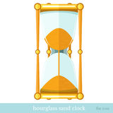 Flat  icon sand hourglass Stock Photography