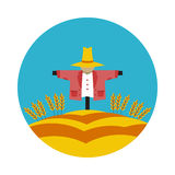 Flat icon Scarecrow. In vector format eps10 Royalty Free Stock Photo