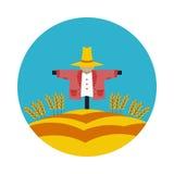 Flat icon Scarecrow Royalty Free Stock Photo