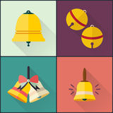 Flat icon school bell design pack Royalty Free Stock Images